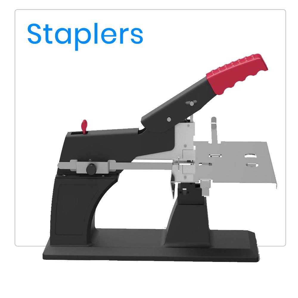 Booklet maker saddle staplers