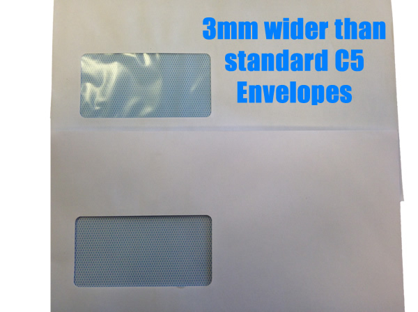 Folder Inserter Envelopes C5 Window EXTRA WIDE