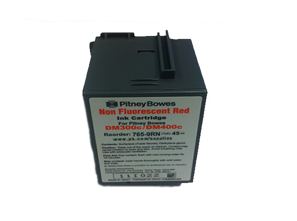 Red Pitney Bowes Original DM300c, DM400c Ink SPECIAL